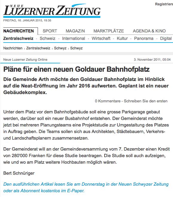 Bericht Luzernerzeitung